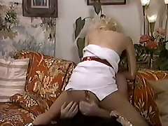 Vintage whore wearing white dress get fucked missionary style