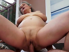 Insatiable chines kungfu with big boobs gets fucked in sideways position