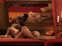 Horny young couple enjoys amazing flying 69 homamade anal dildo in romantic atmosphere
