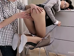 Sleeping college girl gets her pussy licked and finger fucked by horny guy