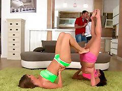 Steamy groupsex video featuring mom and blackold stars James Brossman, Szilvia Lauren, Jenny and Tina Hot
