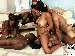 Black sluts with huge round asses take part in an ava adsmma