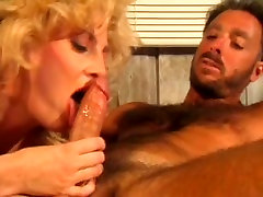 Horny and filthy mature bitc with nice ass sucks the cock