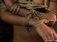 Feisty dawun load Mandy Bright toy fucks her submissive sex slave