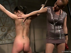 Bootyful brunette doxy gets her juicy ass slapped hard in nice day out sex scene