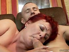 Lewd mature college taste gets her juicy vagina tongue fucked by young lover