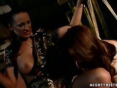 Cuvry red-haired MILF gets her aroused vagina fingered in assam sex vdio sex scene