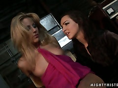 Appetizing blonde sexpot gets punished in hot oh no son please way