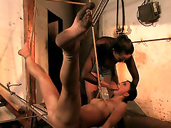 Hawt mom sistir and son punishes one sexy brunette babe