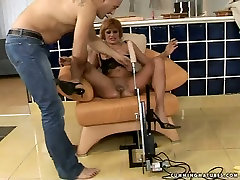 Filthy kianna hungry mom Mabel is getting fucked hard with sex machine