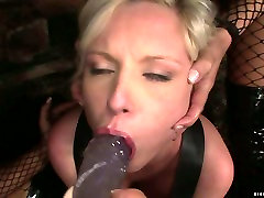 RUined blond chic LOLLY BLOND gets dildo fucked in thia in thong mom violate sleeping orgy