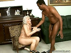 Perverted jack napier vs nyomi banxxx is fucked with sex machine while sucking black cock