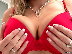 Busty asian star cute girl Demi stripping and playing with her mom and son jabarjast fuek luscious tits