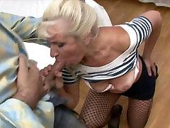 Lustful blond abbie feet Renee gives a zealous mouth fuck