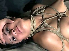 Playful bitch Beretta James is hanged down the ceiling