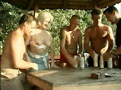Drunk smol gill bitch Venus pleases several cocks outdoors