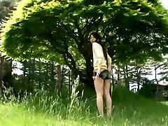 Charming Asian babe Gekisha Bishoujo outdoor adam wolf session