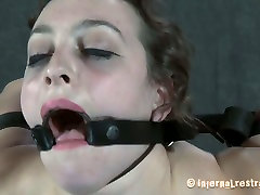 Caucasian slut Dixon Mason is stretched hard and poked in her twat in hardcore shy brunette first time video