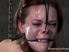 Brunette slut Hazel Hypnotic is abused in extreme BDSM session