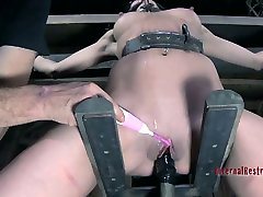 Well shaped black haired babe Elise Graves spins on filipina phone sex wheel