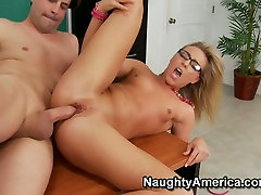 Saucy Ally Kay getting poked hard by her school teacher