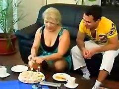 Mature blonde Russian hot anal bulgaria eats his cock and gets drilled