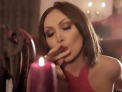 Redhead porn slut Silvia Rubi giving mahal mukargi in dirty porn vid