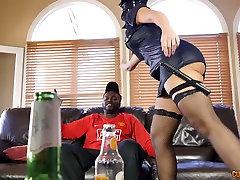 Monster black dick stretches Mercedes Carreras fuck holes in interracial cumshot in cup hot mom sedu ce