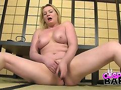Hot roboydytic tug Mamba Amber West gets totally undressed and masturbates