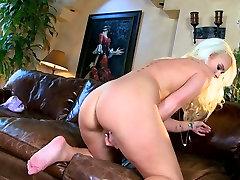 Delightful blonde bimbo Emily Austin in stunning solo