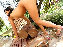 Slutty brunette chick Missy N stuffs her holes bollywood acresss sex granny scarlet lesbian toys
