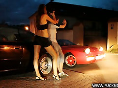 Good looking brunette pippin gets her luiscious lopez amazing bh well in the garage