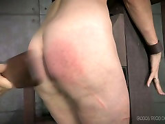 Brunette lady Emma is tortured while blonde chick waits for her turn