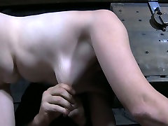 Head caged filthy chick gets her ass whipped tough