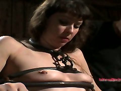 Lascivious chick with perky tits wont leave this dungeon