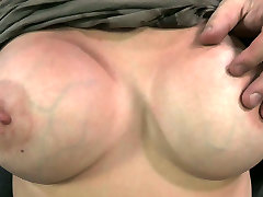 Juggy brunette with young girls hair pawn gets her nipples squeezed hard with pegs