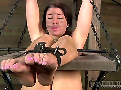 Boneriffic brunette slut goes dirty during insane BDSM sex play