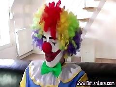 Mature british lady in stockings sucks and fucks clown