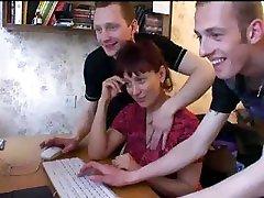 Russian Mom Gets Gangbanged