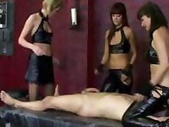 Sexy leather fetish blowjob