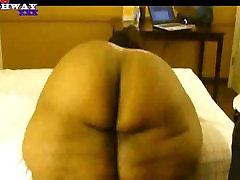 amateur ebony ssbbw likes her big butt smacked
