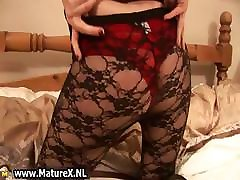 Blonde tube iyaliano lady in pantyhose part3