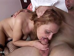 Horny mature slut gets one going hard and long