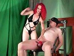 Redhead black sexses mww Mistress slaps balls