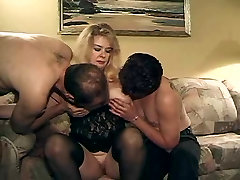 Chubby latinas do masturbates in solo and fucks with two boy