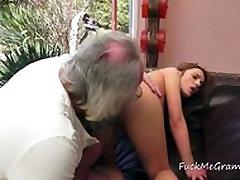 Santa Grandpa Fucked By Teen