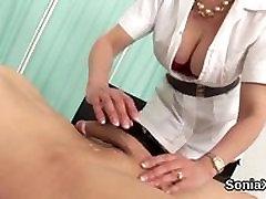 Unfaithful british milf lady sonia flashes her nietta pellegrino breasts