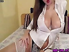 Nude-Cams.net Curvy Woman with Big Boobs in Satin Blouse Free HD Porn