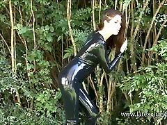 Outdoor latex babe Olivias heels and shiny sex jabalpur mp fetish