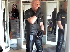 Leather Biker soohel baya Freddy Mask smoke cigare
